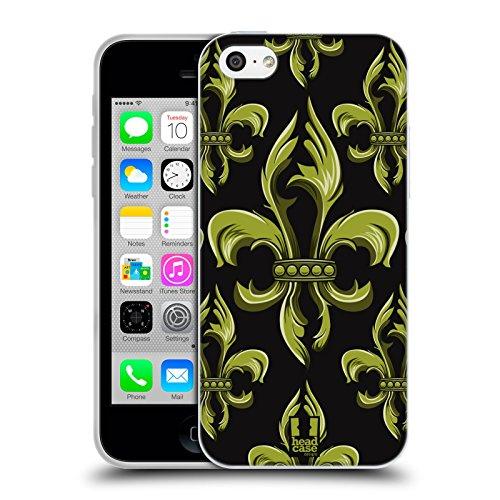 Head Case Designs Diamant Fleur De Lys - Collection Étui Coque en Gel molle pour Apple iPhone 5 / 5s / SE Ornement