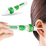 Sedeter Kit de nettoyage auriculaire pour retirer le cérumen, aspirant et vibrant avec des têtes de remplacement souples en silicone