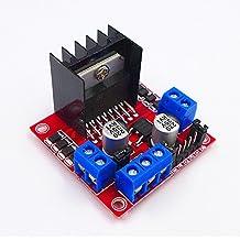JZK® Doppio ponti H 25w 2v L298N DC motori motore passo passo bipolare per Arduino Raspberry Pi robot auto intelligente, motore step stepper modulo motore scheda driver pannello di controllo