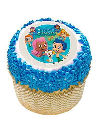 Bubble Guppies 2 Edible Cupcake Topper (12 Images) - Party Supplies by DecoPac (Guppy Supplies Bubble Party)