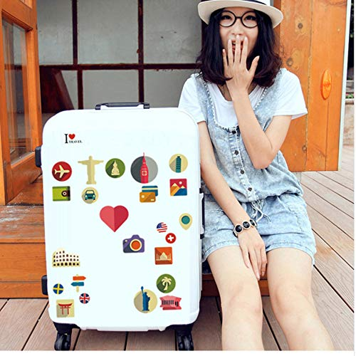 WFYY Die bedeutung der Reise Aufkleber JDM Dekoration auf Aufkleber Laptop kühlschrank kreative persönlichkeit Aufkleber Koffer 86x55 cm