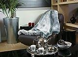 Silver Shadow de luxe Couvre-lit en fausse fourrure, Tissu, Argent/Gris, CS - Comforter Size 140x90cm