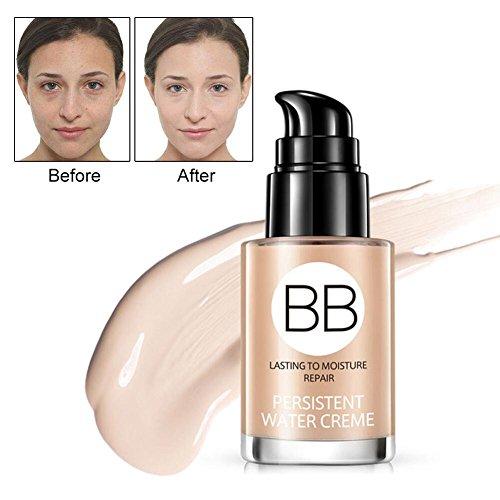 BB Cream, flüssiges Make-up, Blemish Balm Heller Hauttyp, Teint-Perfektionierer für eine natürlich makellos wirkende Haut,feuchtigkeitsspendend, Light Beige, 30 ml