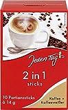 Jeden Tag - 2in1 bastoncini di caffè + sbiancante per caffè (Instant Coffee) | Totalmente Peso 140 grammi