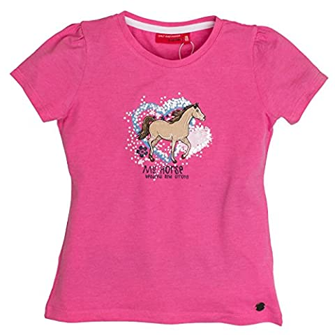 SALT AND PEPPER Girl's Uni My Horse T-Shirt, Rosa (Candy
