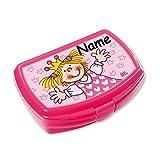 Lunchbox * MIABELLA plus WUNSCHNAME * für Kinder von Lutz Mauder // Brotdose mit Namensdruck // Perfekt für Mädchen // Prinzessin Vesperdose Brotzeitbox Brotzeit (mit Namen)