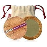 ZAO Matt Eyeshadow 207 oliven-grün Lidschatten in nachfüllbarer Bambus-Dose (bio, Ecocert, Cosmebio, Naturkosmetik)