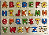 #10: FunBlast™ Wooden Colorful Learning Letters Alphabets Board for Kids With Knobs, Educational Learning Wooden Tray (Capital Letters)