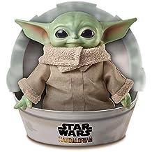 Mattel GWD85 Star Wars Mandalorian The Child Baby Yoda plysch figur 28 cm, samlarleksak
