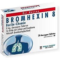 BROMHEXIN 8 Berlin Chemie überzogene Tabletten 20 St Überzogene Tabletten preisvergleich bei billige-tabletten.eu