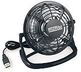 mumbi USB Ventilator, Mini Fan für den Schreibtisch mit Ein/Aus-Schalter, schwarz