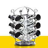 Drehen Glas Stehlen Rostfrei Pfefferstreuer,Multifunktional Zuhause Pulverisiert Feinheit Gewürze Zoll Geschirr Salz Chili Pfeffer Gewürz Pfeffermühle Krug-A