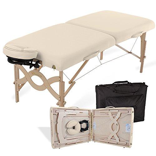 Mobile Behandlung (EARTHLITE Avalon XD Mobile Massageliege - Klappbares Komplettpaket, ½ Reiki ½ Standard Endplatten inkl. Flex-Rest Kopfstütze & Tragetasche)