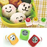 Estone 3PCS Cute Smile Sushi Nori Rice Mold Decor Cutter Bento Maker Sandwich DIY Tool