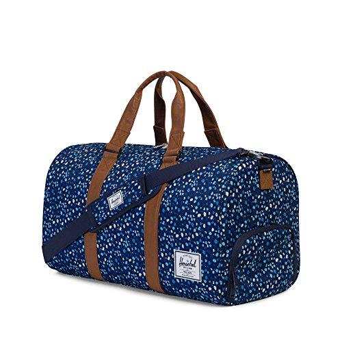 Herschel Novel Duffle, Bag, Tasche, 600D Poly, 00516, Black Crosshatch/Black peacoat mini floral/tan synthetic