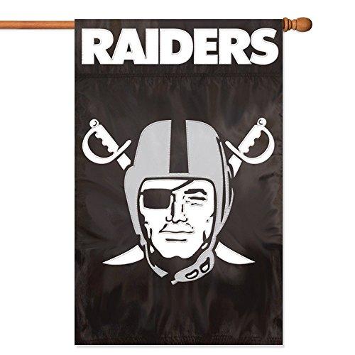 Party Animal NFL Unisex Aufnäher Banner Flagge, Oakland Raiders, Einheitsgröße - Heavy-duty-outdoor-banner