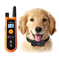 Dog Training Collar, marsboy Rechargeable and Waterproof Dog Trainer with Beep, Adjustable Vibration Function, 200 Meters Training Range, Long-lasting Battery Life, Humane Training Collar for All Size Dogs