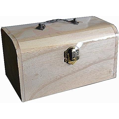 Baúl de madera madera Joyero para decorar pintar decoupage