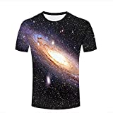 Herren Damen T Shirt 3D Printed Graphic Shirt Vast Universe Glowing Asteroid Short Sleeve Shirts Summer Casual Tops Tees XXXL