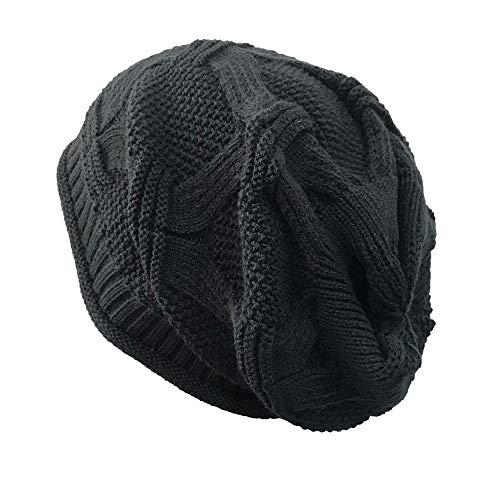 iHENGH Beanie Damen Casual Outdoor Gestrickte Klassische Slouch Long Beanie Mütze Caps 46-60cm
