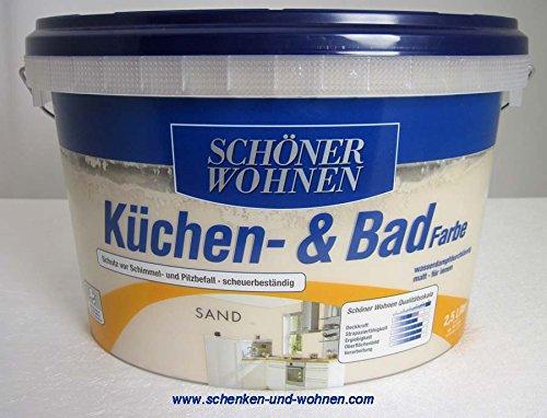 SCHÖNER WOHNEN FARBE Küchen- & Badfarbe, sand 2 l, sand