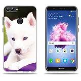 """DIKAS Custodia Huawei P Smart/Enjoy 7S, Trasparente Silicon Clear in TPU Moda Creativo 3D Contemporaneo Chic Silicone Cover Telefono Protezione per Huawei P Smart/Enjoy 7S (5.65"""")- PIC: 08"""