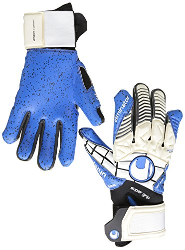 Guanti Uhlsport Eliminator Super Grip HN, Unisex, Handschuhe ELIMINATOR SUPERGRIP HN, weiß/Schwarz/energy blau, 10.5