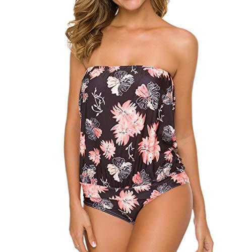 ❤RYTEJFES Bikinis Mujer Sexy Monokinis Bandeau Sin