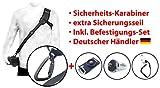 MIND-CARE-ESSENTIALS RAPID-01 Kameragurt Schultergurt DSRL SLR mit Sicherheits Karabinerhaken INKL 1x Secure Strap 1x Sc
