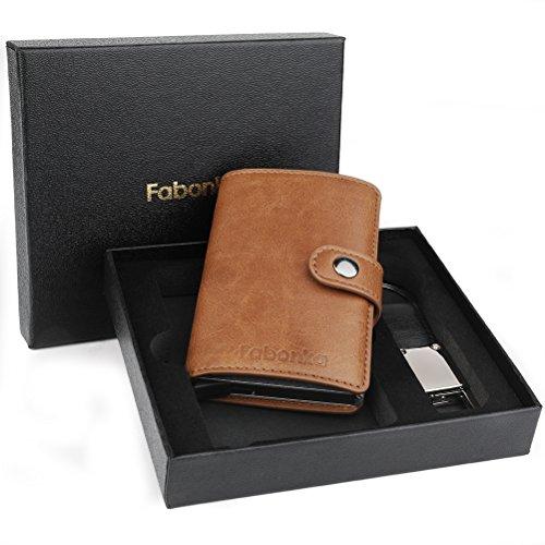 Porta Carta di Credito – Fabonka Porta Carte di Credito RFID Pelle PU 7845c1fc298