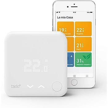 Tado° Termostato Intelligente Kit di Base V3+ - Gestione intelligente del riscaldamento, compatibile con Amazon Alexa, Apple HomeKit, Assistente Google, IFTTT