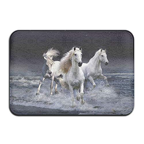 31787410c463d XIEXING Water Absorption Reactive Dyeing Durability Doormat Non-Slip Mat  40x60cm Doormat Running Horses Non-Slip Rug - Collection Kitchen Dining ...