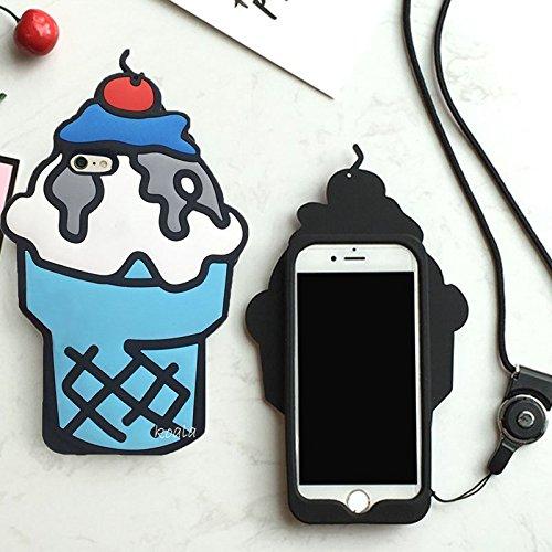 Koala Group® 3D trendige senkrecht-Silikon Sleeve Body Flamingo/Sunflower/Ice Cream/Soft Eis Widerstand Schutz Sleeve Schutzhülle für iPhone 6/6S&Iphone 6Plus/6S Plus (iphone 6Plus/6S Plus, Pikachu po Blue