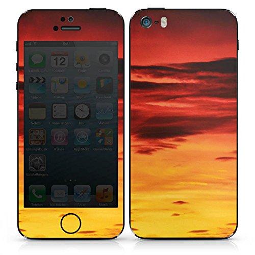 Apple iPhone SE Case Skin Sticker aus Vinyl-Folie Aufkleber Abendrot Wolken Sonnenuntergang DesignSkins® glänzend