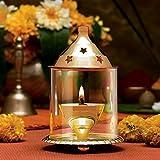 #4: JaipurCrafts Designer Akhand Diya ( Small, Brass) - 10 cms