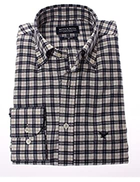 178674 - Bots & Bots - Camisa para Hombre - 80% Algodón / 20% Lana Franela - Button Down - Normal Fit