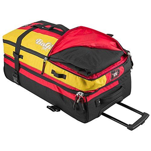 BoGi Bag Reisetasche Koffer Trolley Tasche türkis 110L schwarz/rot/gold
