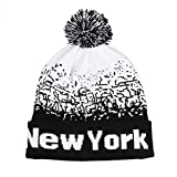 Yvelands M?nner Frauen Caps Hut Baggy Warme Winter Wolle Strick Ski Beanie Skull Slouchy(Schwarz,One Size)