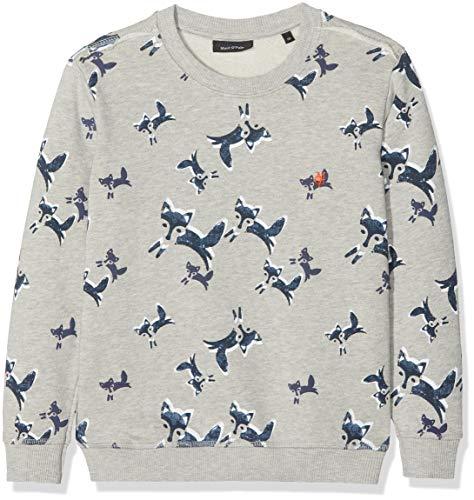 Marc O' Polo Kids Jungen Sweatshirt 1/1 Arm, Mehrfarbig (Allover Multicolored 0003) 110