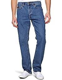 MENS FARAH STRAIGHT CUT 12OZ STRETCH DENIM WITH DOUBLE STITCH IN STONE WASH BLUE IN WAIST 40 TO 64 & INSIDELEG 30/32/34