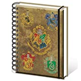 HARRY POTTER A5 SR72083 Hogwarts Crests Notebook