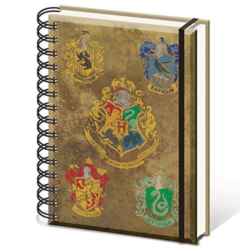 Harry Potter Hogwarts de los Escudos–Cuaderno tamaño A5Notebook
