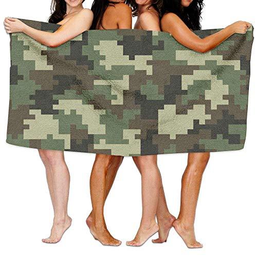 YUYUTE Strandtücher Für Frauen Männer Oversized Microfiber Blanket,Digital Army Camouflage Camo,Super Absorbent Bath Towel for Outdoor Camping Sports Travels Quick Drying 31.5X51.2 INCH -