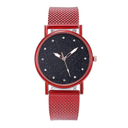 friendGG_Armbanduhren Mode Luxus Inlay Diamant Starry Dial Quarz Silikonband Damenuhr Einzigartiges Design Analoge Quarz-Armbanduhren Für Edelstahl Band Luxus Business Dress Uhren