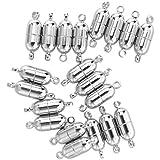 TOOGOO(R) 20X Perles argent Fermoir magnetique cylindrique de bijoux