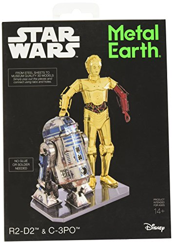 Metal Earth mmg276 502667 R2-D2 de Star Wars et C-3PO Construction Jouets