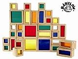 Fensterbausteine Holz Bauklötze Bausteine 32er Set in Holzbox