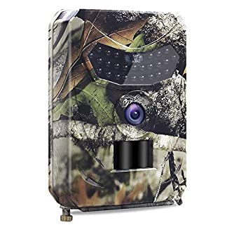 SUNNZO X86 Trail Camera 1080P 12MP both Day&Night,Hunting Scouting Cam for Wildlife Monitoring with 120°Detecting Range Motion Activated,IP56 Waterproof,26 PCS IR LEDs,50ft Effective Range,1S Trigger Time