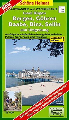Radwander- und Wanderkarte Insel Rügen