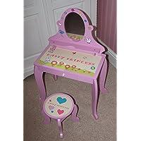 Ensemble meuble coiffeuse et tabouret Happy Princess, en bois - Graphismes brevetés